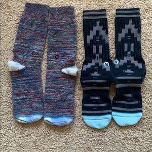 (2) Stance Men Socks Size L Size 9-12